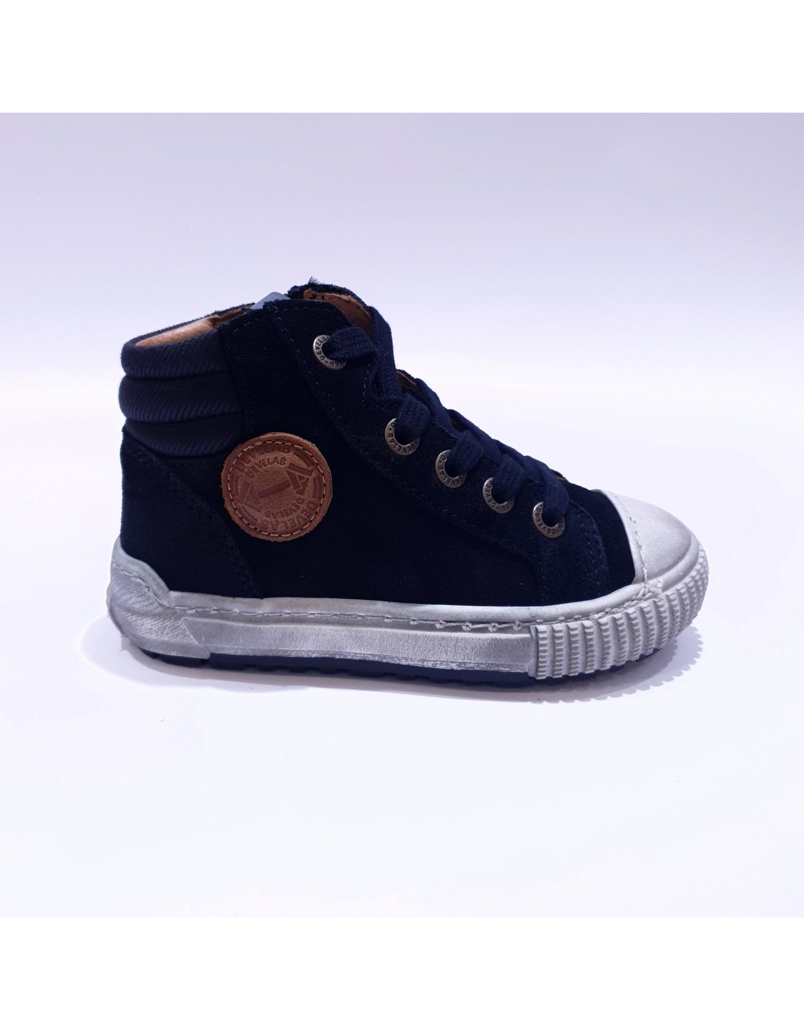 Develab sneaker zwart daim