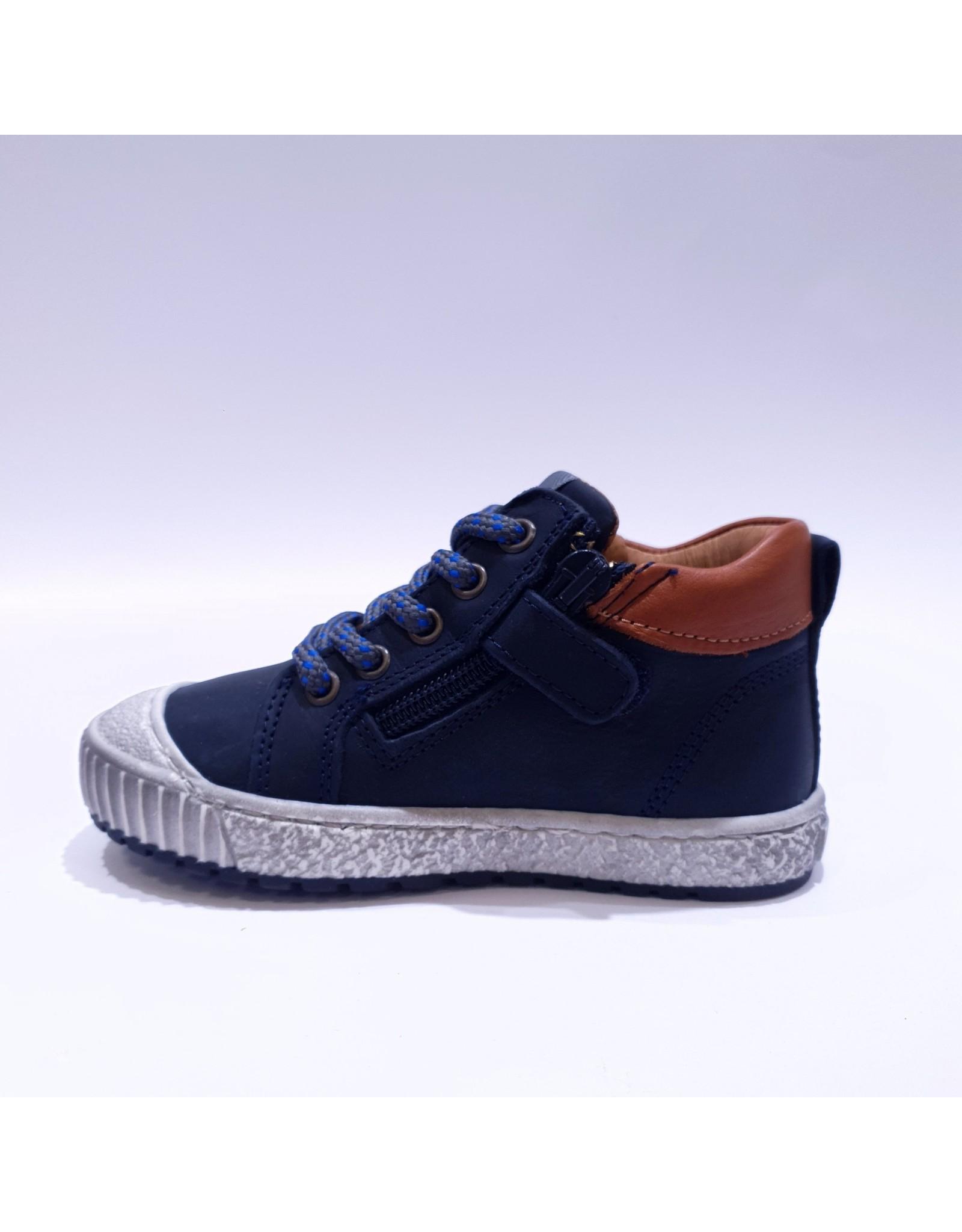 Develab sneaker blauw leder