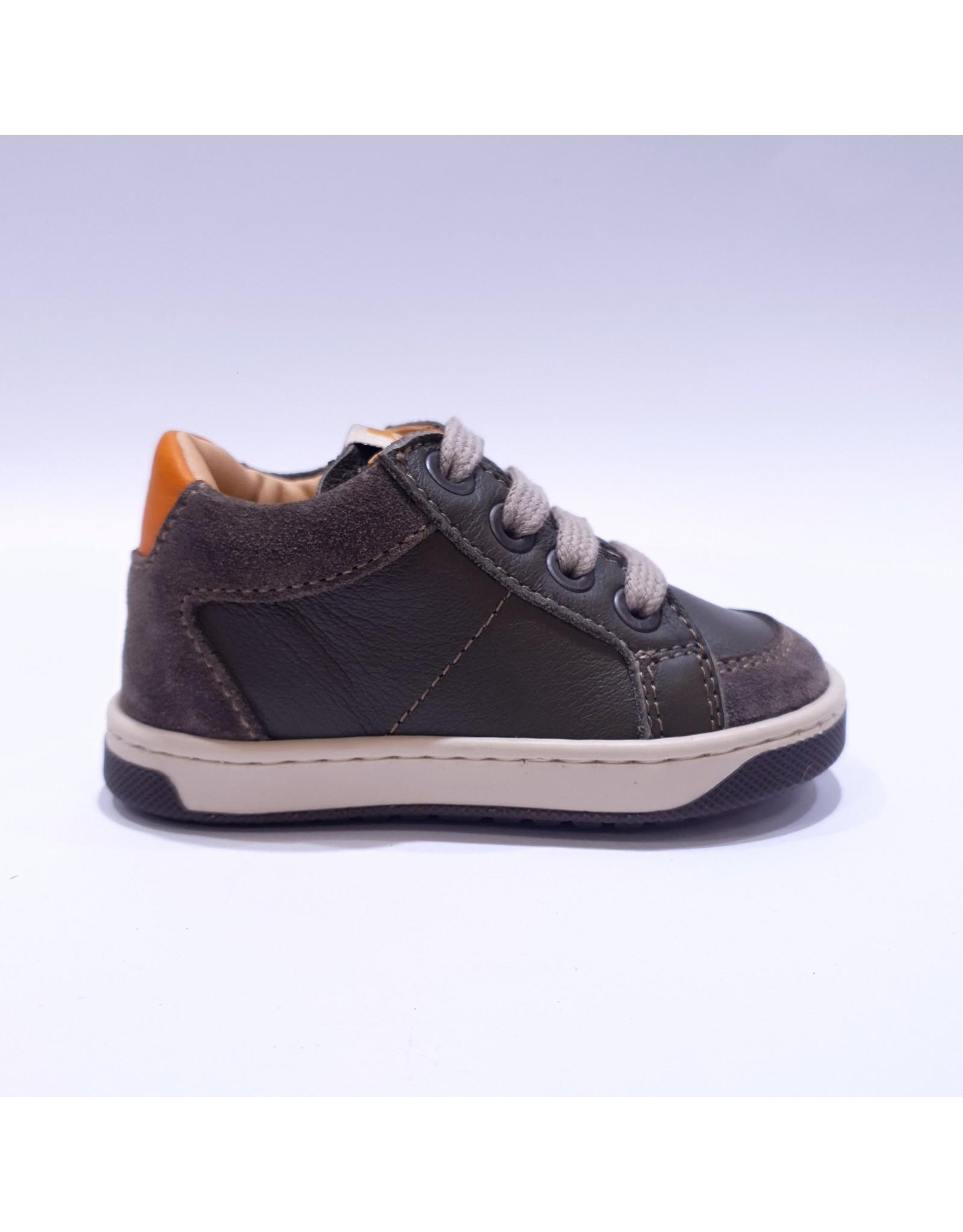 Ocra sneaker kaki leder/daim