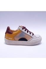 Ocra sneaker offwhite/bordo bliksem