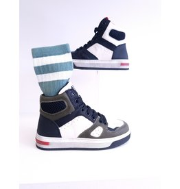 Andrea Morelli sneaker hoog groen/zwart/brushed