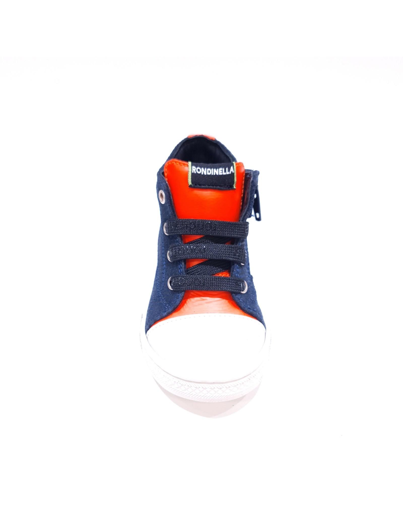 Rondinella sneaker hoog blauw/neon