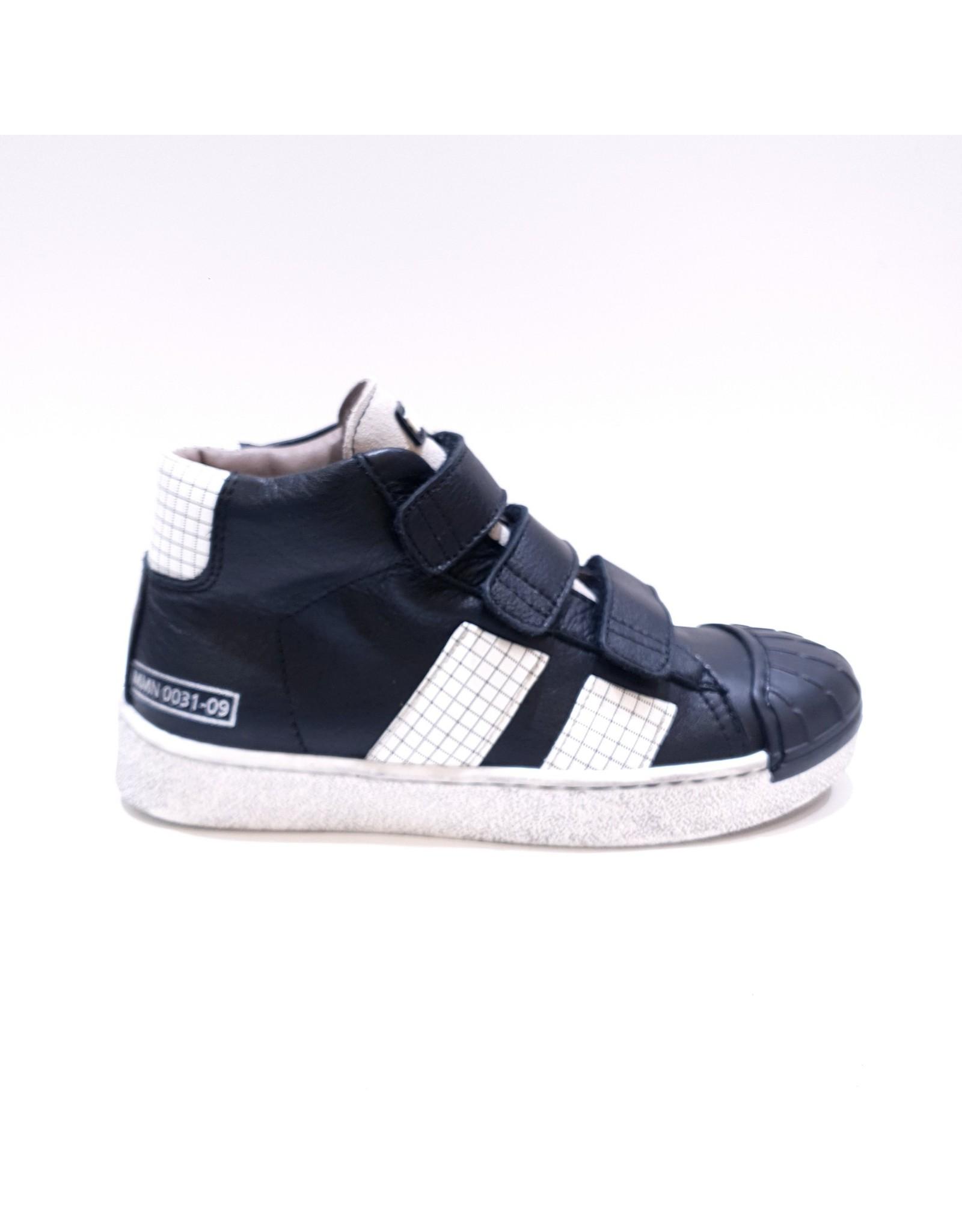 Momino sneaker velcro zwart wit/blok