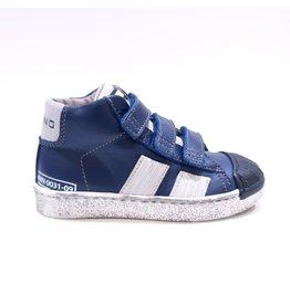 Momino sneaker velcro blauw/ecru daim