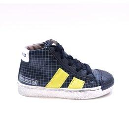Momino sneaker zwart/fluo