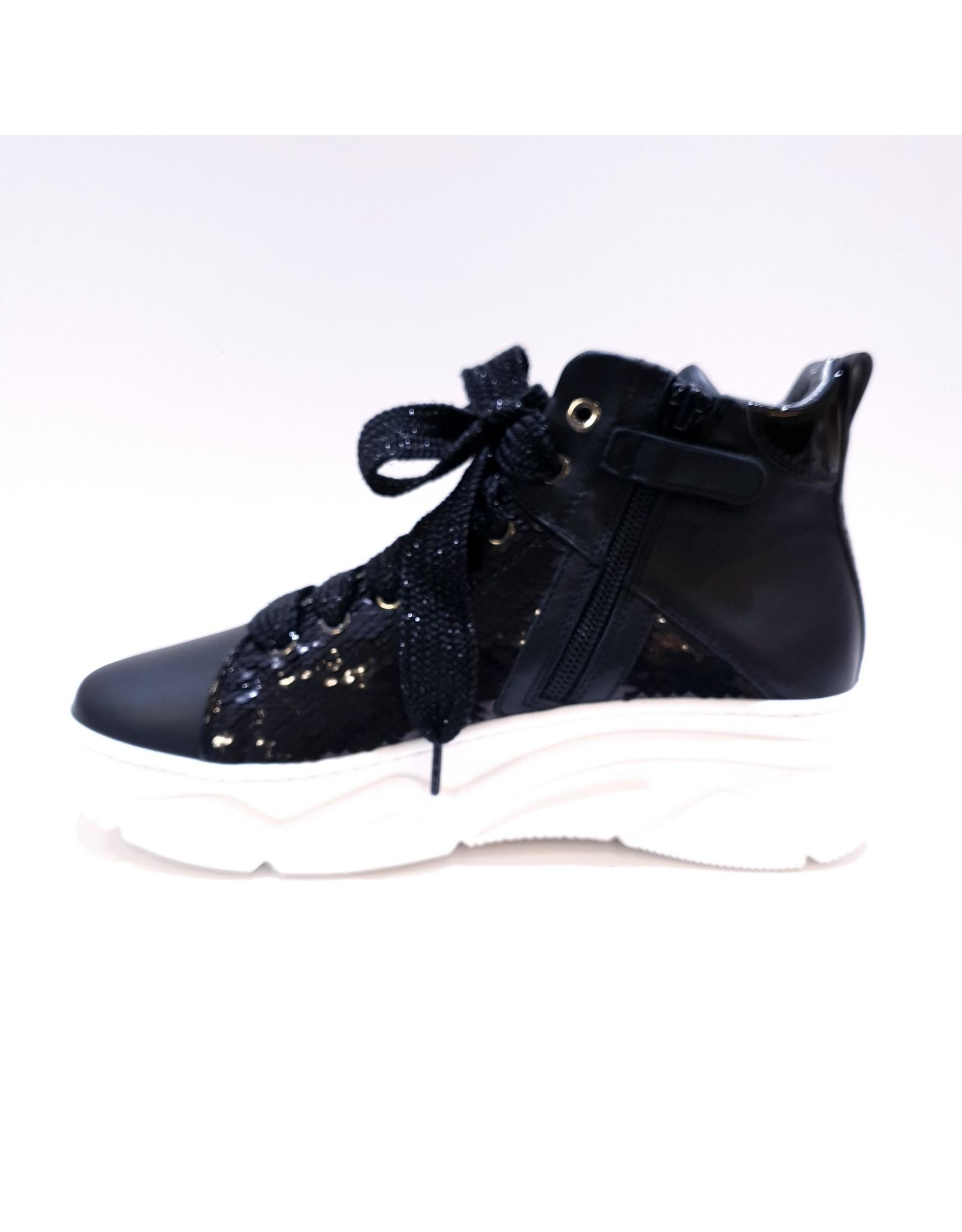 Andrea Morelli sneaker hoog zwart