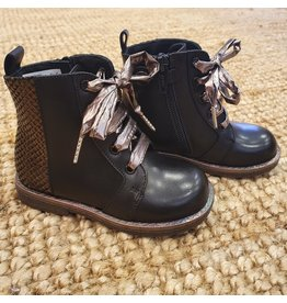 Rondinella laars zwart/brons