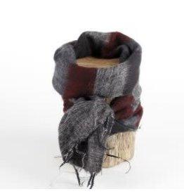 Sjaal met verhaal kids sjaal bordeaux zwart