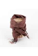 Sjaal met verhaal kids sjaal chocoladebruin