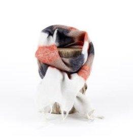 Sjaal met verhaal kids sjaal crème taupe oranje