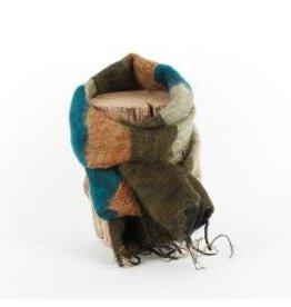 Sjaal met verhaal kids sjaal groen bruin