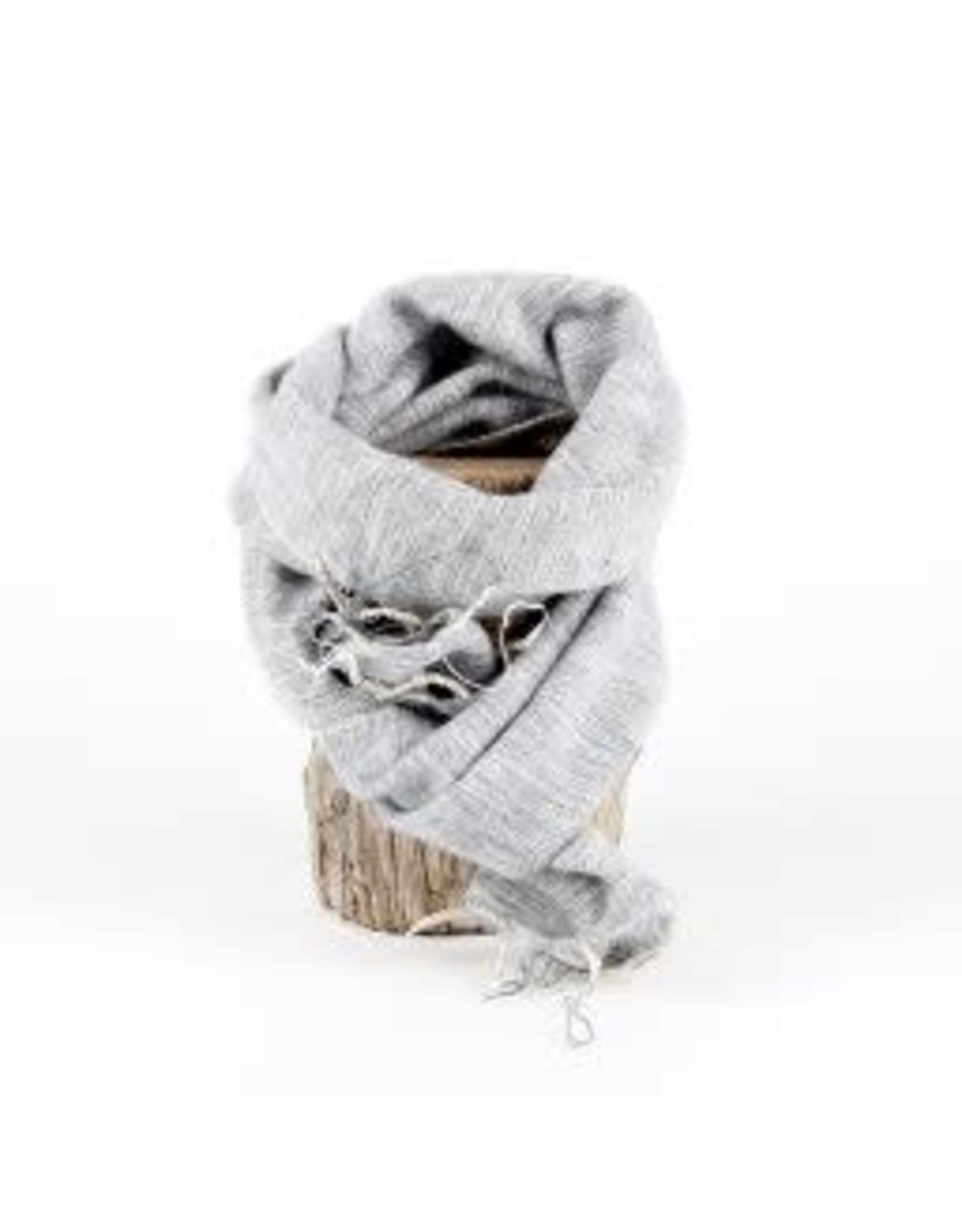Sjaal met verhaal kids sjaal lichtgrijs