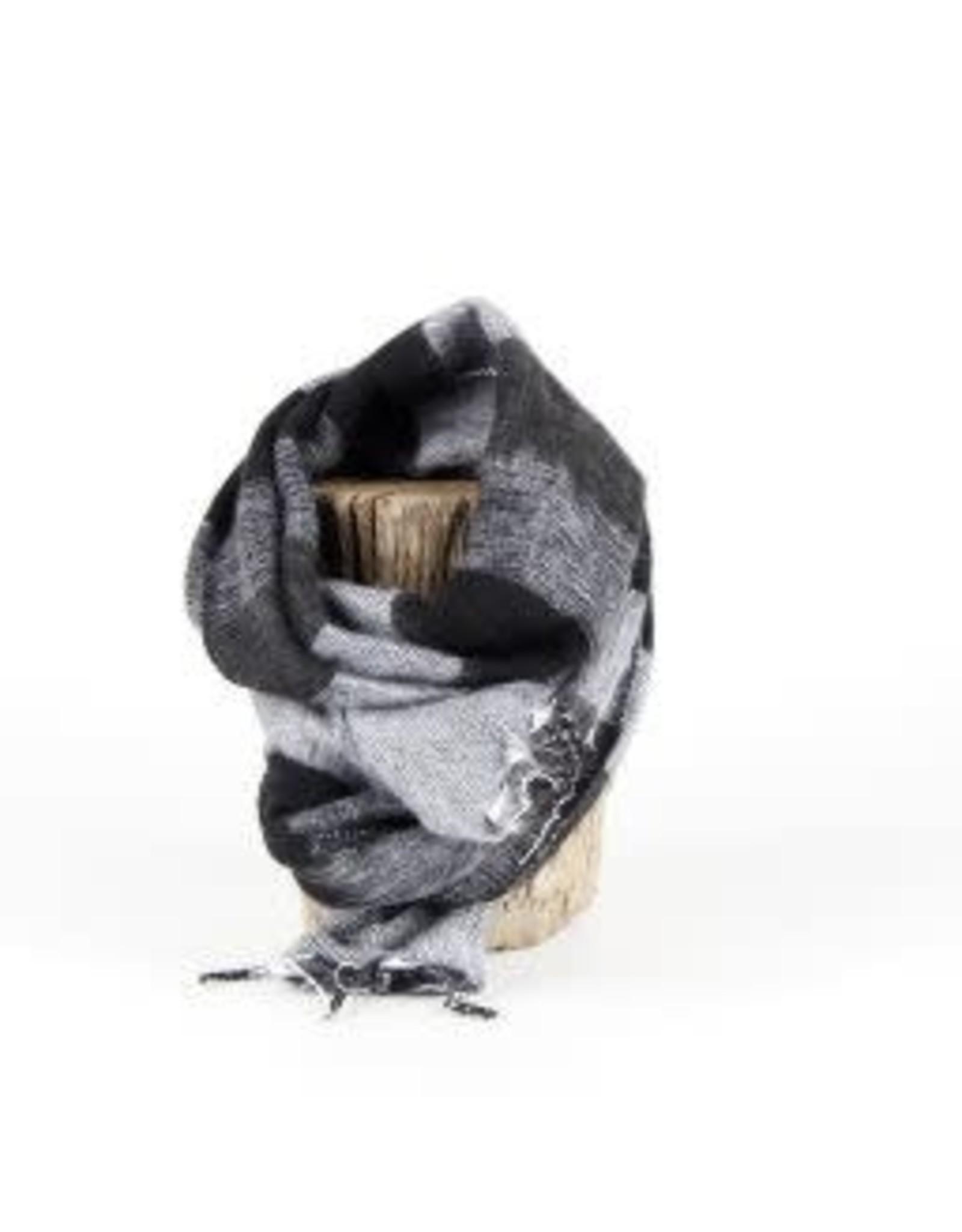 Sjaal met verhaal kids sjaal zwart grijs