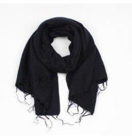 Sjaal met verhaal adult sjaal zwart