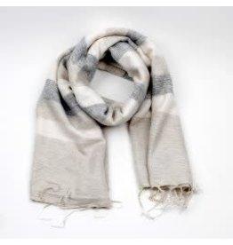 Sjaal met verhaal adult crème grijs