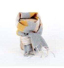 Sjaal met verhaal adult sjaal okergeel crème