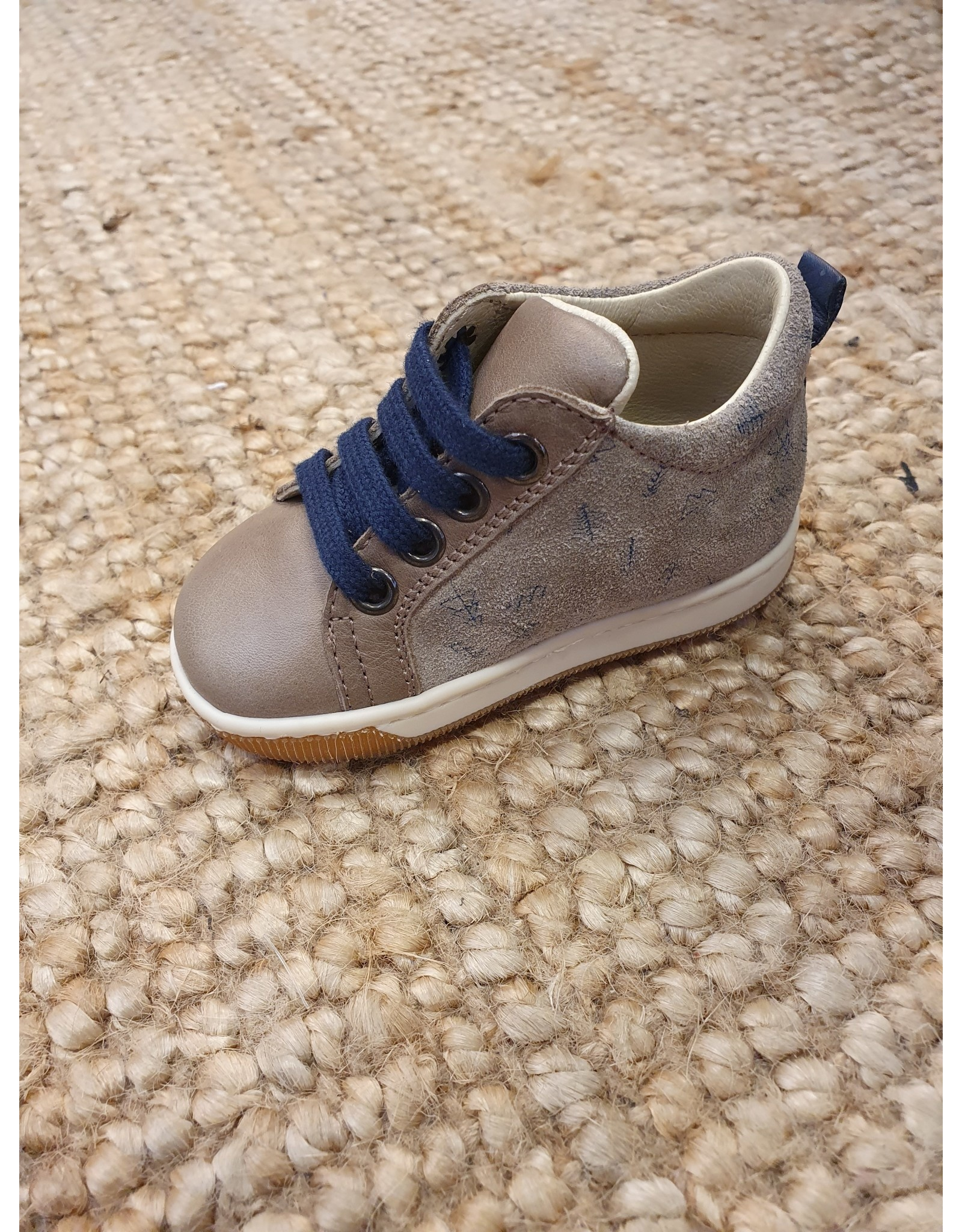 Falcotto sneaker grijs/blauw print