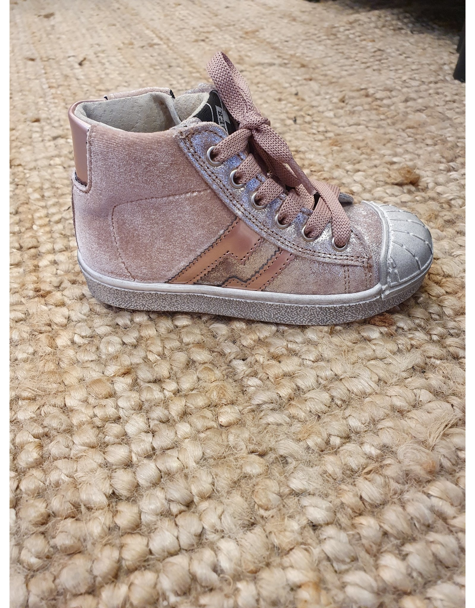 sho.e.b. sneaker pink velvet