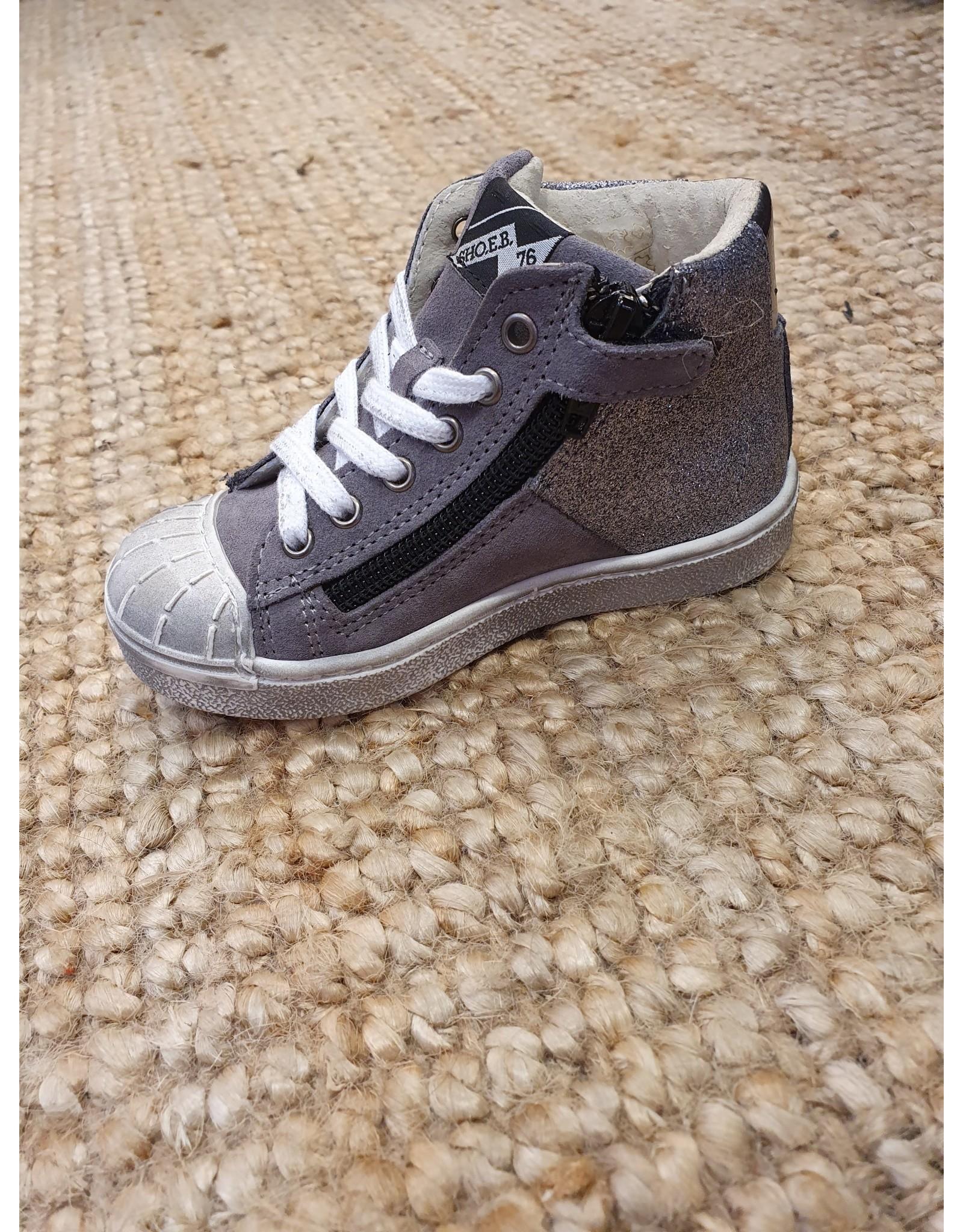 sho.e.b. sneaker grey glitter