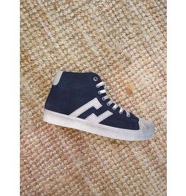 sho.e.b. sneaker bleu daim