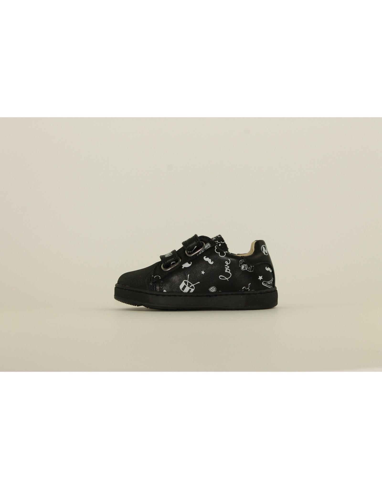 Athlet's sneaker velcro zwart print