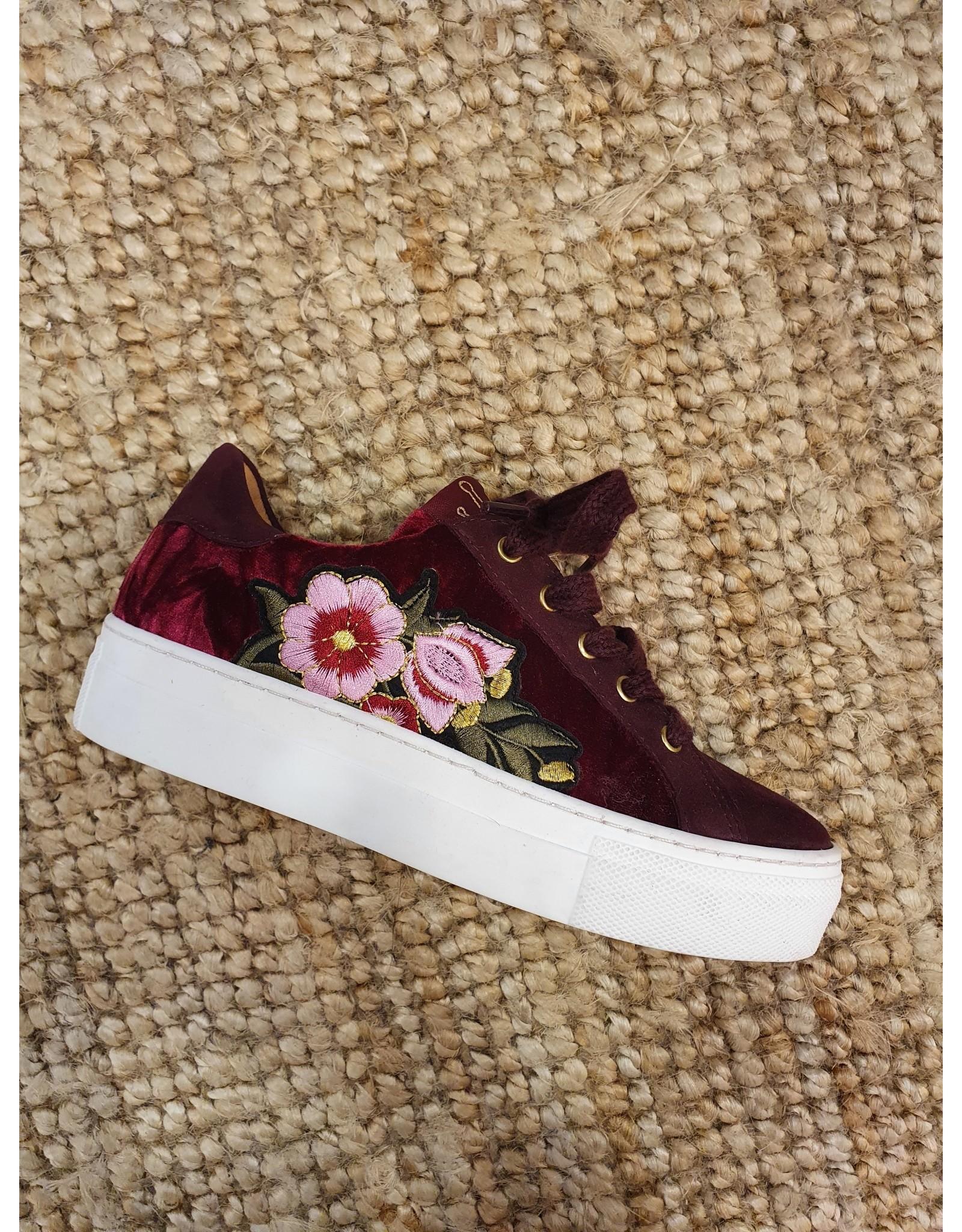 Develab sneaker bordo bloemen