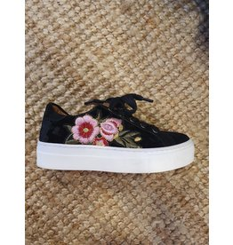 Develab sneaker zwart bloemen