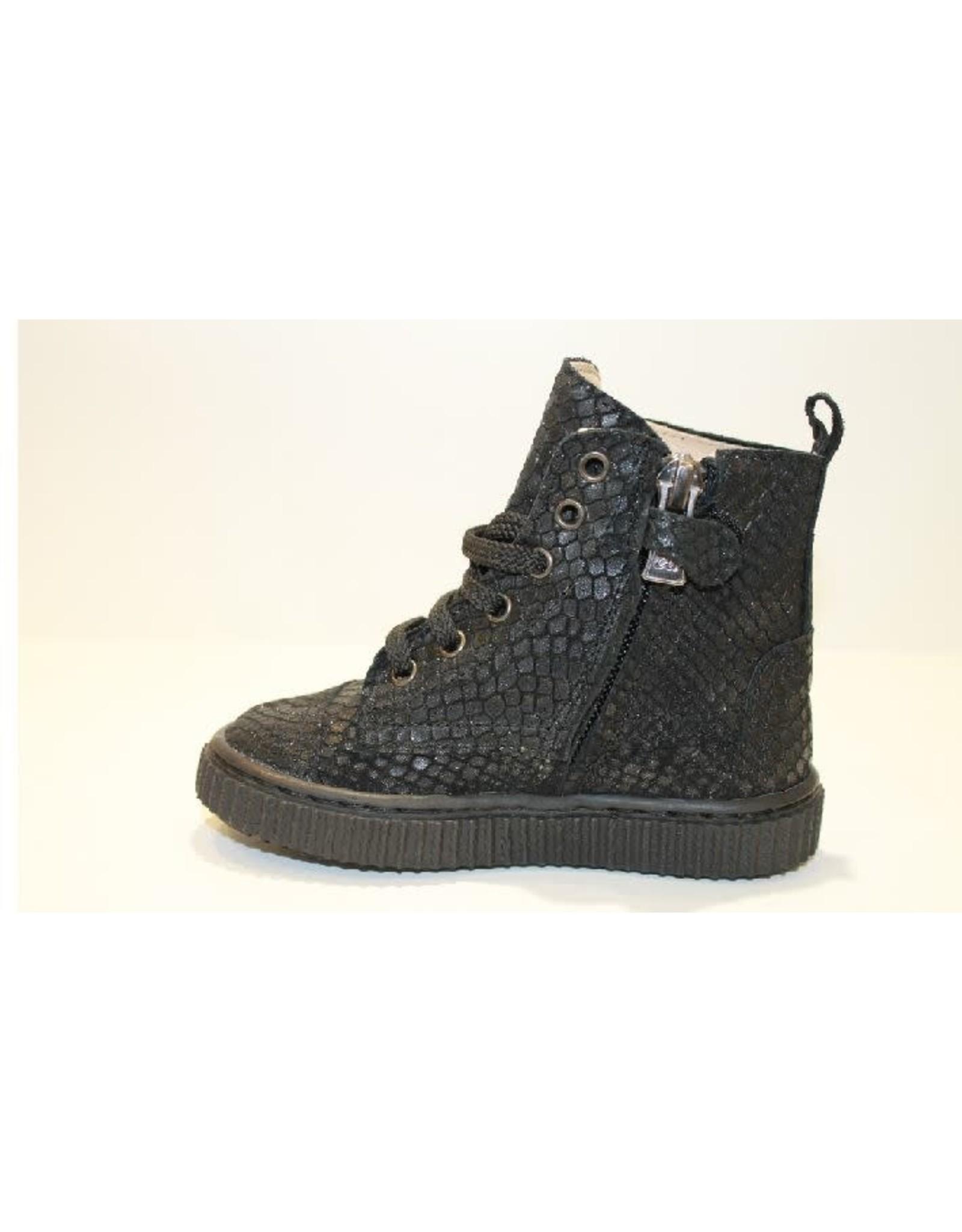 Eli hoge sneaker zwart snake
