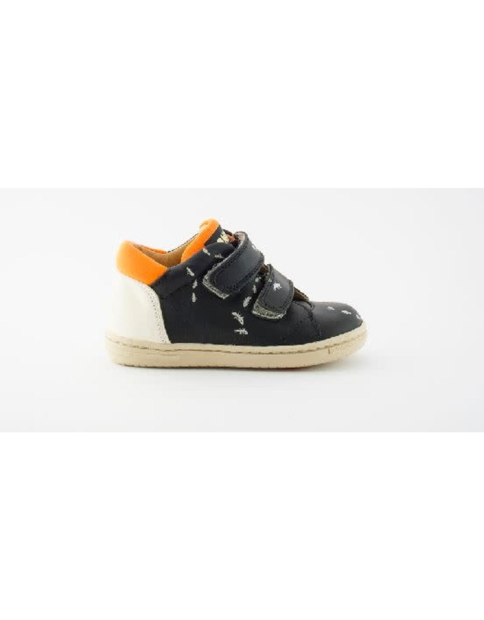 Rondinella sneaker velcro black ants