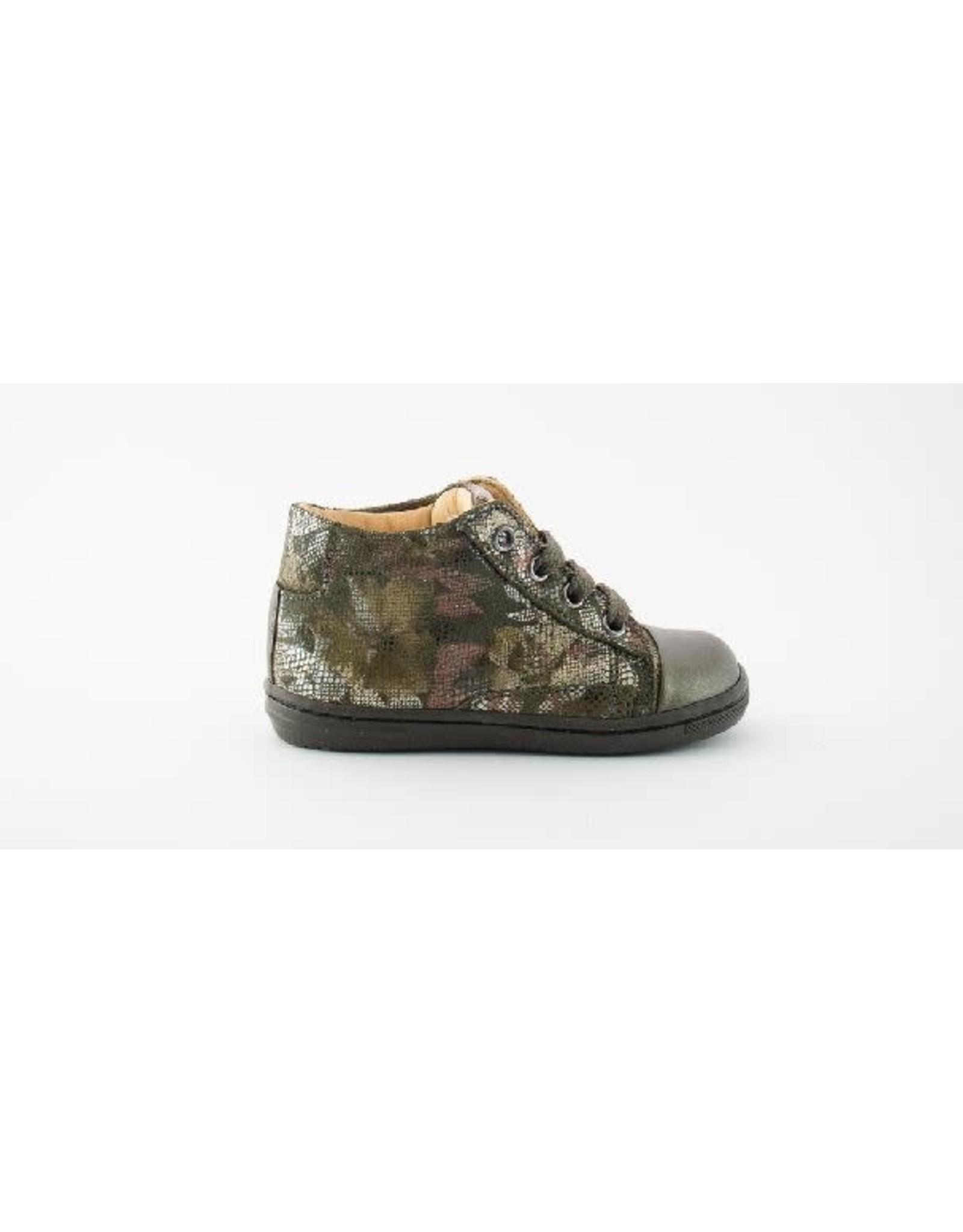 Rondinella sneaker kaki flowers