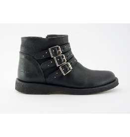 Angulus black biker boots