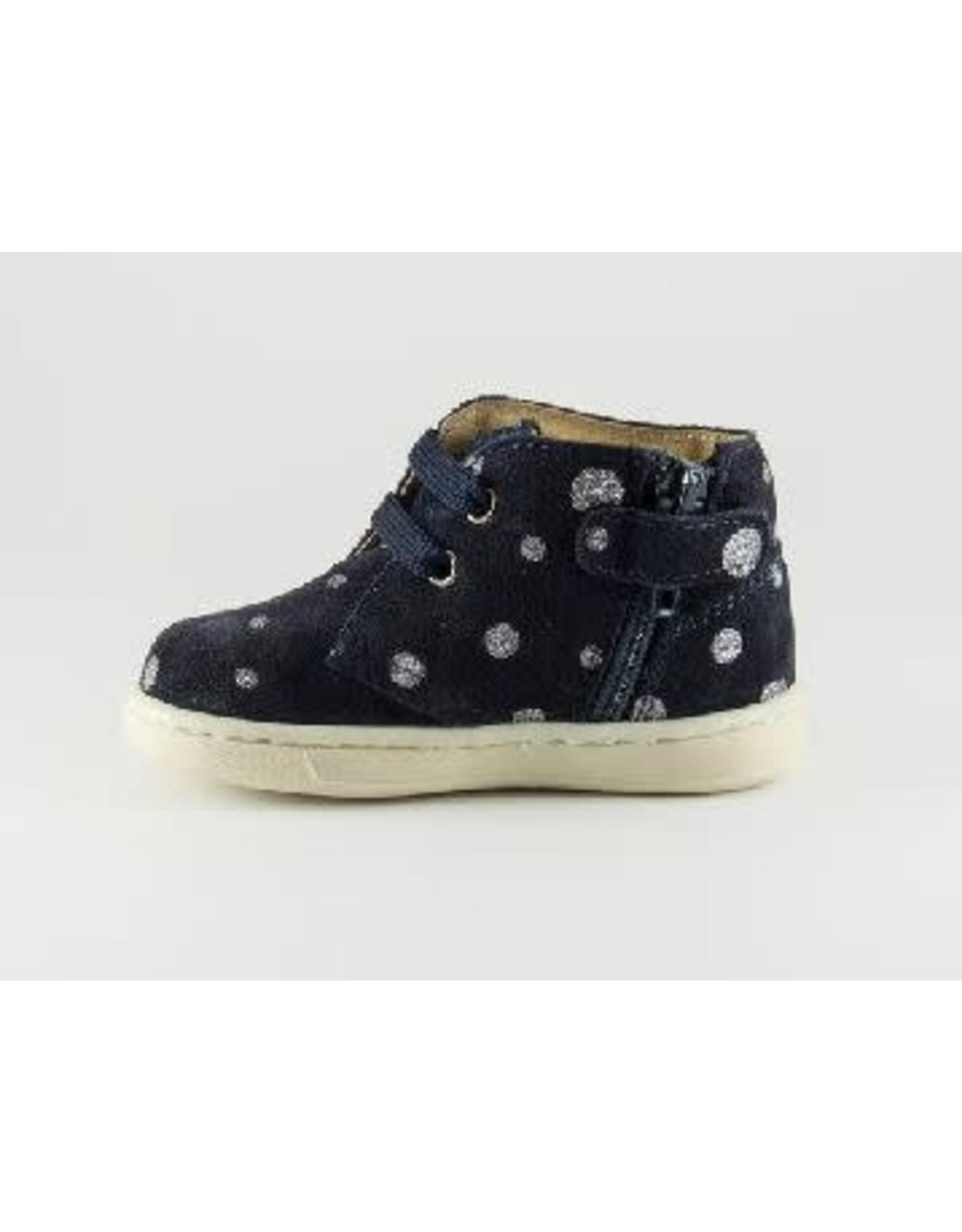 Walkey sneaker blue silver dots