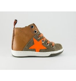 MAÁ sneaker cognac orange star