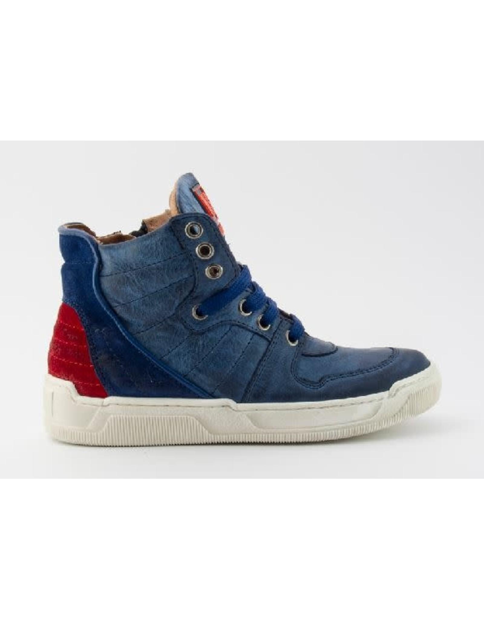 Andrea Morelli sneaker blauw rood