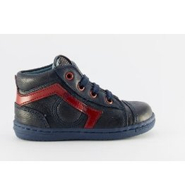 Rondinella sneaker blue red line