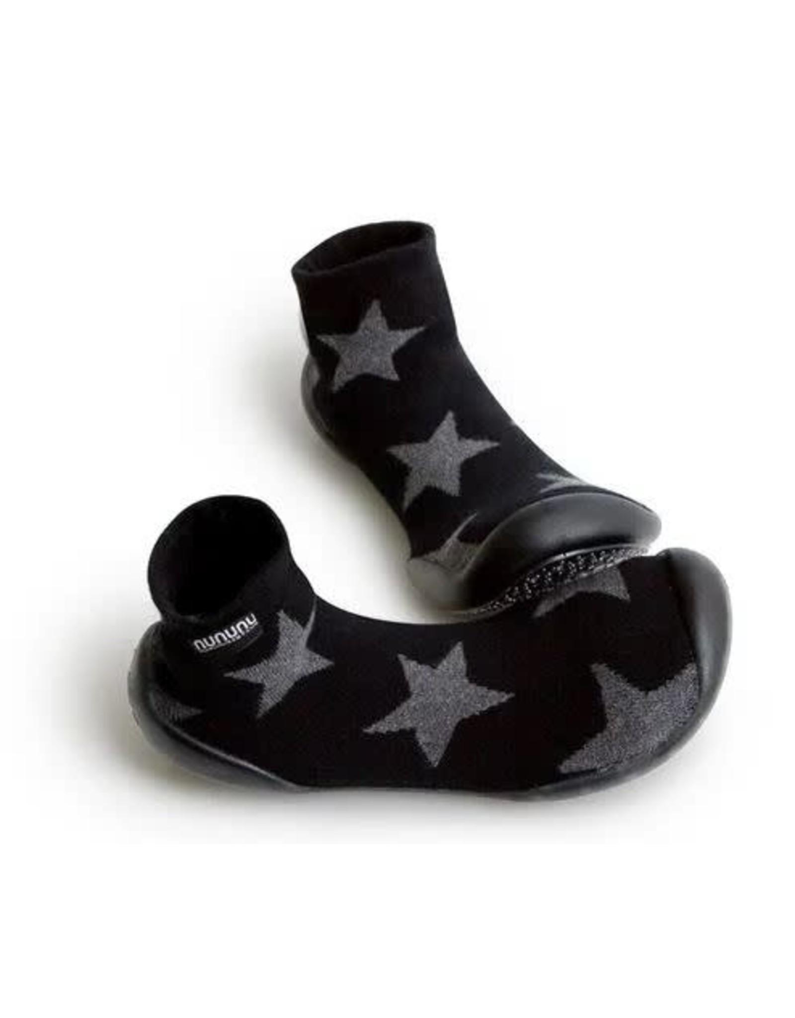 Collégien pantoffel zwart sterren