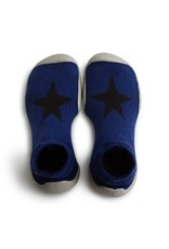 Collégien pantoffel paars/blauw ster