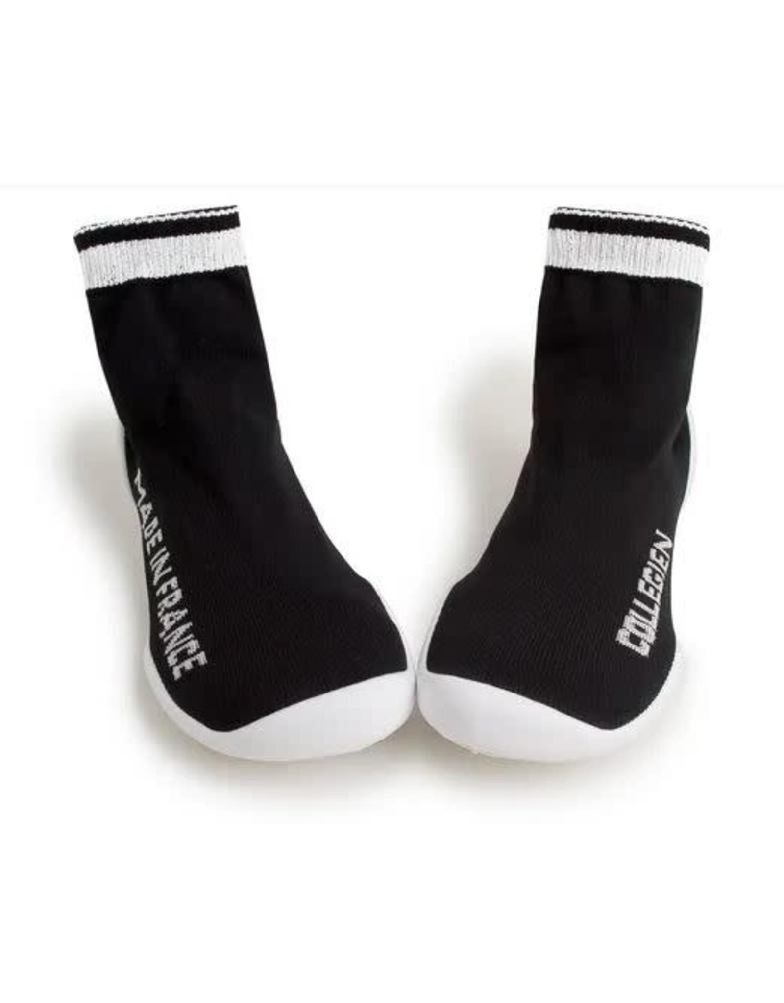 Collégien pantoffel black/white