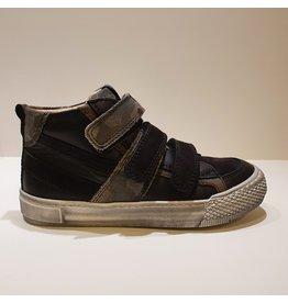 Lunella sneaker velcro zwart army