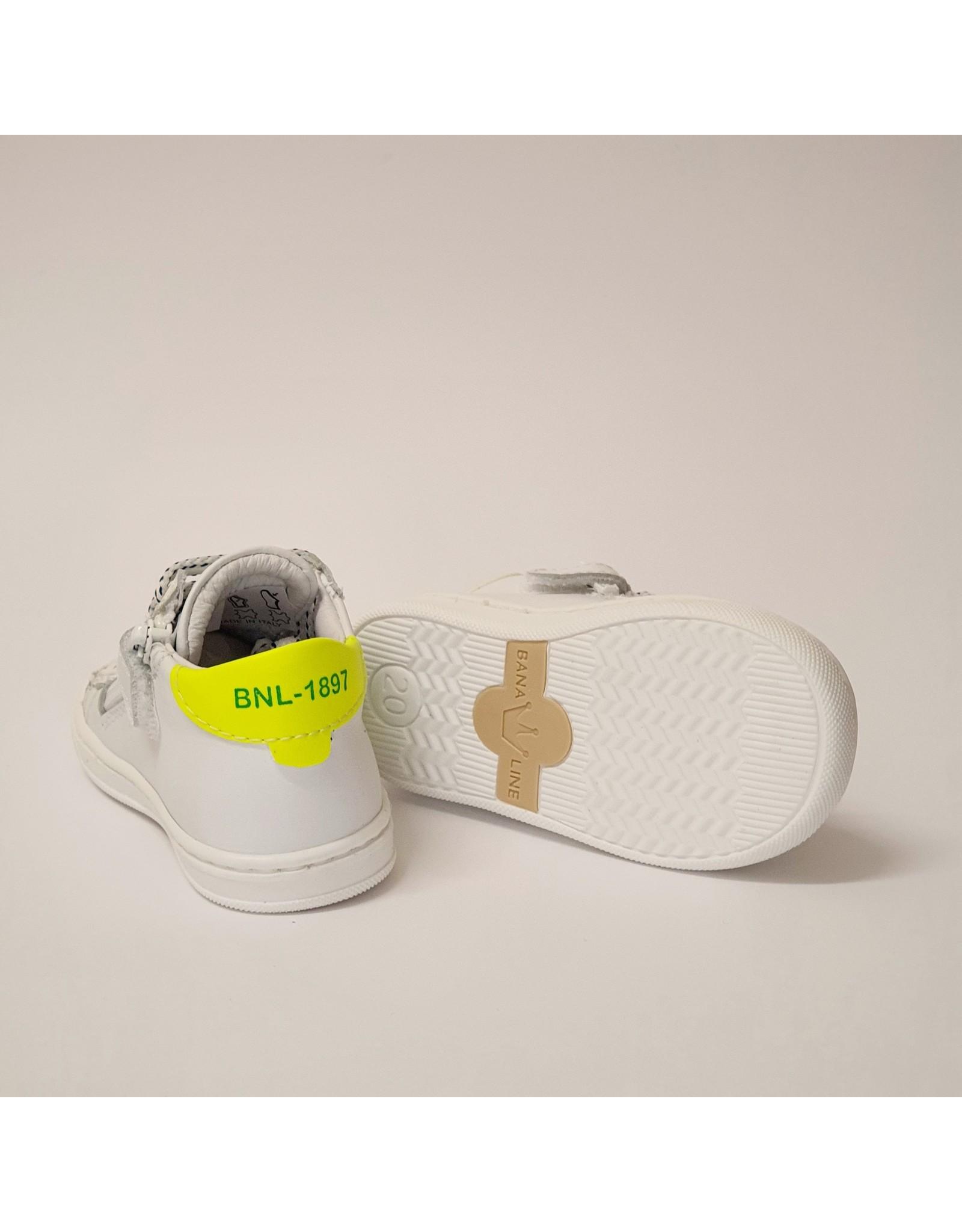 Banaline sneaker wit fluo