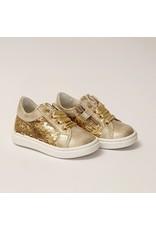 Walkey sneaker goud pailletten