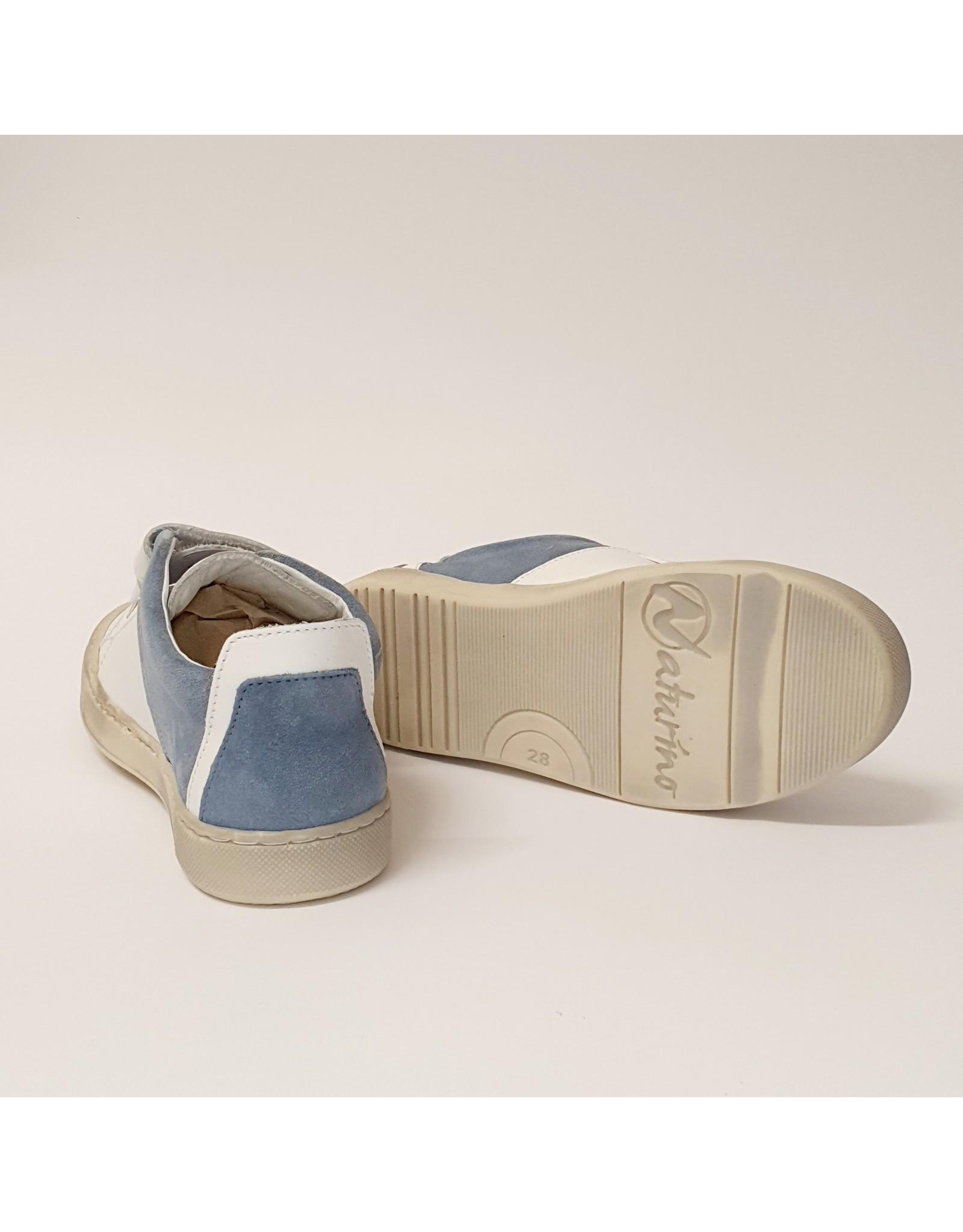 Naturino sneaker velcro white celeste