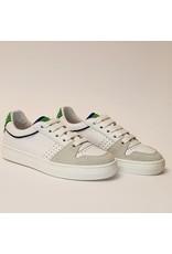 Banaline sneaker laag wit/groen