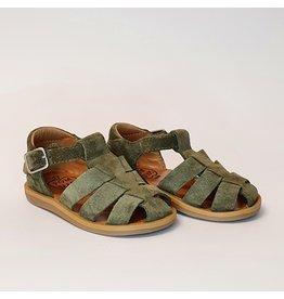 Pom d'Api sandaal poppy daddy velours olive