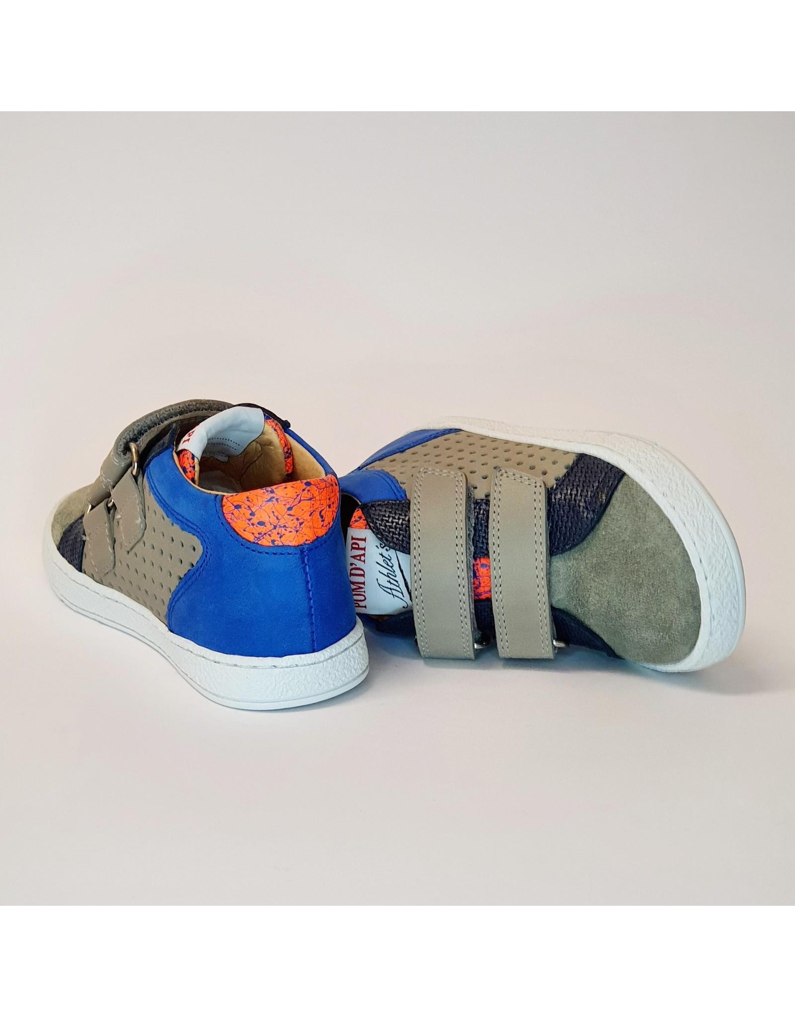 Pom d'Api sneaker velcro mousse grijs/blauw