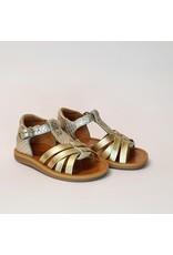 Pom d'Api sandaal poppy back neptune goud