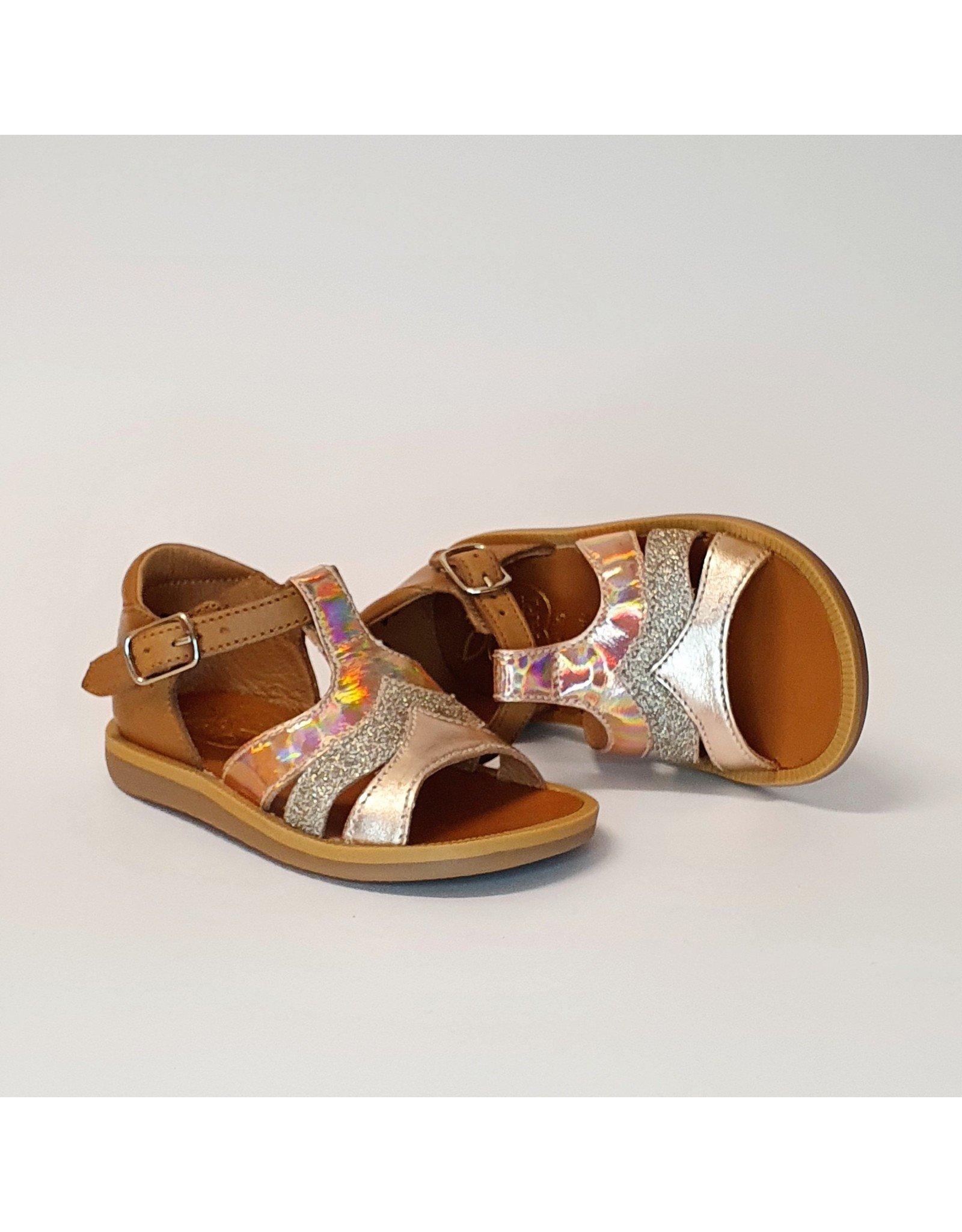 Pom d'Api sandaal poppy calypso camel/rosé