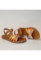 Pom d'Api sandaal plagette reverse camel/orange