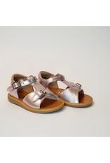 Pom d'Api sandaal poppy buckle metalic blush