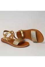 Pom d'Api sandaal plagette gold glitter